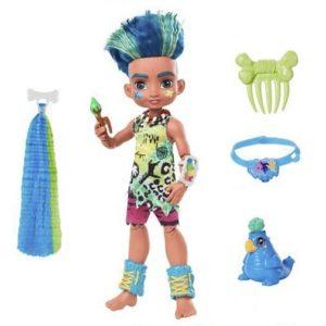 Deluxe Кукла мальчик Слейт и питомец Тэгги «Пещерный клуб» 25 см Cave Club Mattel
