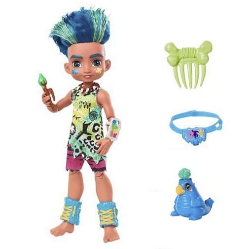 Кукла мальчик Слейт и питомец Тэгги «Пещерный клуб» 25 см Cave Club Mattel