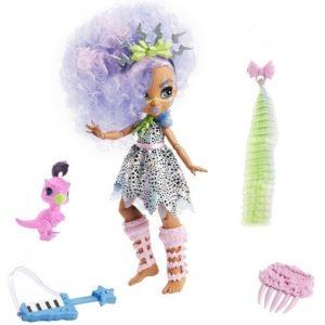 Кукла Bashley и динозаврик Snare «Пещерный клуб» 25 см Cave Club Mattel
